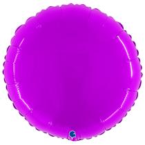 "Grabo 21"" Shiny Purple Rould Foil Balloon"