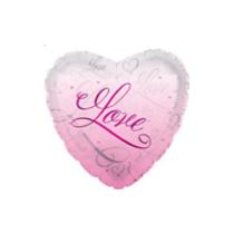 "Valentine's Pink Love You Script 18"" Foil Balloon"