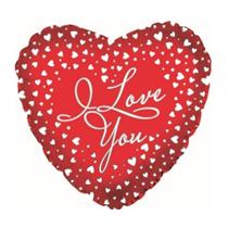 "Valentine's I Love You Cascade 18"" Foil Balloon"
