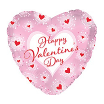 """Happy Valentine's Day Pink Framed 18"""" Foil Balloon"""