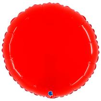 "Grabo 21"" Shiny Red Round Foil Balloon"