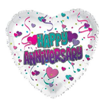"Happy Anniversary Hearts 17"" Foil Balloon"