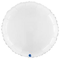 """Grabo 21"""" Shiny White Round Foil Balloon"""