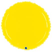 """Grabo 21"""" Shiny Yellow Round Foil Balloon"""
