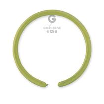 Gemar Standard Olive 160 Latex Modelling Balloons 50pk
