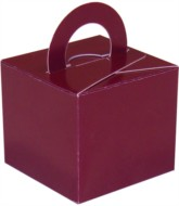 Balloon Weight/Gift Boxes Burgundy - 10pk