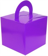 Balloon Weight/Gift Boxes Purple - 10pk