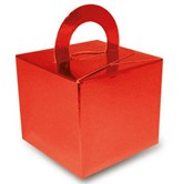 Metallic Red Balloon Weight Gift Box 10pk