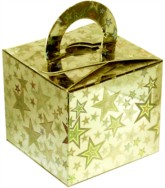 Balloon Weight/Gift Boxes Gold Holo Stars - 10pk