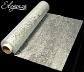 Eleganza Soft Sheer Silver Printed Organza Roll - 20M