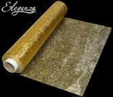 Eleganza Soft Sheer Gold Printed Organza Roll - 20M