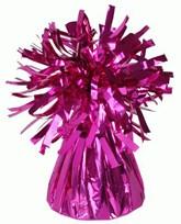 Fuchsia 6oz Foil Tassel Balloon Weight