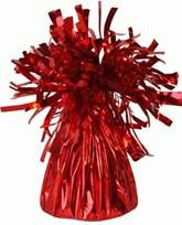 Red 6oz Foil Tassel Balloon Weight