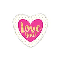 "Love You Bold 9"" Mini Foil Balloon"