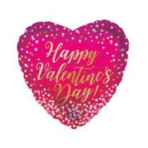 """Happy Valentine's Day Dots 9"""" Mini Foil Balloon"""
