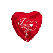 "I Love You 9"" Mini Red Heart Foil Balloon"