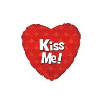 "Valentine's Kiss Me 9"" Mini Foil Balloon"