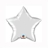 "Silver 9"" Star Foil Balloon"