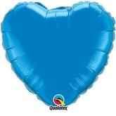 "Sapphire Blue 18"" Heart Foil Balloon"