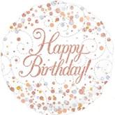 "Happy Birthday Sparkling Fizz 18"" Foil Balloon"