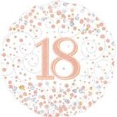 """18th Birthday Sparkling Fizz White 18"""" Foil Balloon"""