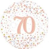 """70th Birthday Sparkling Fizz White 18"""" Foil Balloon"""