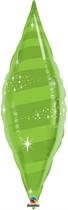 "Lime Green 38"" Foil Taper Swirl"