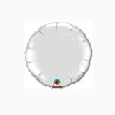 "Silver 4"" Round Foil Balloon"