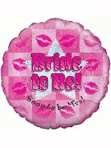 """Bride to Be Hen Party Holographic 18"""" Foil Balloon"""