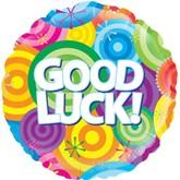 "Good Luck Rainbow Circles 18"" Foil Balloon"