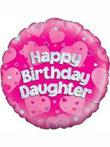 """18"""" Happy Birthday Daughter Holographic Foil Balloon"""