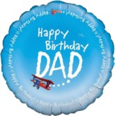 "18"" Happy Birthday Dad Foil Balloon"