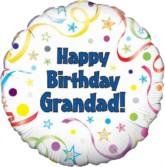 "18"" Happy Birthday Grandad Foil Balloon"