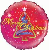 "Merry Christmas Tree 18"" Foil Balloon"