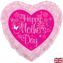 """Mother's Day Pink Heart 18"""" Foil Balloon"""
