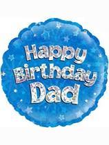 Happy Birthday Dad Holographic Foil Balloon