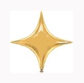 "Metallic Gold 20"" Starpoint Foil Balloon - Air Fill"
