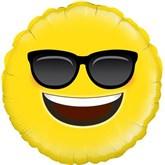 "Cool Sunglasses Emoji 18"" Foil Balloon"
