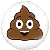 "Smiling Poop Emoji 18"" Foil Balloon"