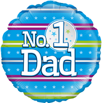"""Father's Day No.1 Dad 18"""" Foil Balloon"""