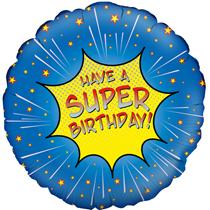 "Super Birthday 18"" Foil Balloon"
