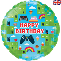"""Blox Game Birthday 18"""" Holographic Foil Balloon"""