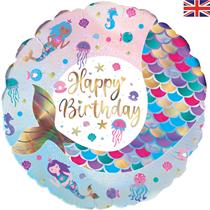 "Shimmering Mermaid Birthday 18"" Foil Balloon"