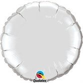 "Silver 18"" Round Foil Balloon Pkgd"