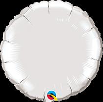 Qualatex 18 Inch Silver Round Foil Balloon