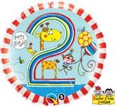 "Rachel Ellen 18"" 2nd Birthday Balloon"