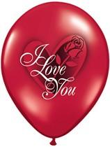 "Valentine's I Love You 11"" Latex Balloons 6pk"