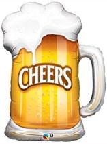 "Beer Mug Cheers 35"" Supershape Foil Balloon"