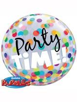 "Party Time Confetti Bubble Balloon 22"""