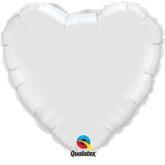 "White 36"" Heart Foil Balloon"